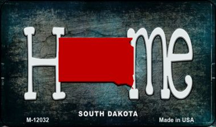 South Dakota Home State Outline Novelty Magnet M-12032