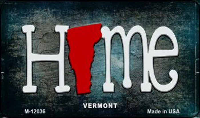 Vermont Home State Outline Novelty Magnet M-12036
