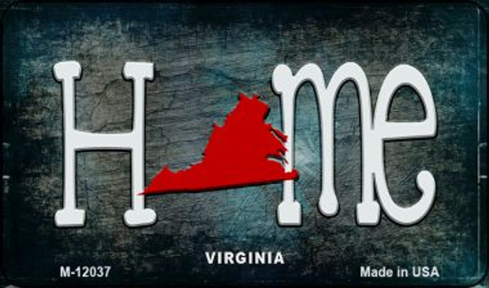 Virginia Home State Outline Novelty Magnet M-12037