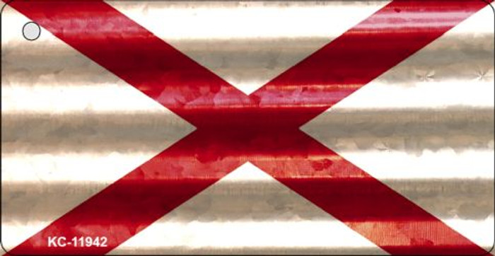 Alabama Corrugated Flag Novelty Key Chain KC-11942