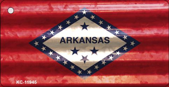 Arkansas Corrugated Flag Novelty Key Chain KC-11945