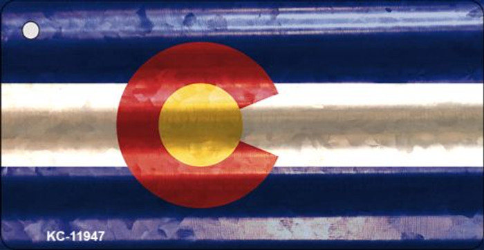 Colorado Corrugated Flag Novelty Key Chain KC-11947