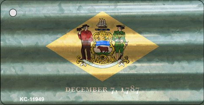 Delaware Corrugated Flag Novelty Key Chain KC-11949