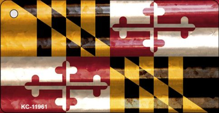 Maryland Corrugated Flag Novelty Key Chain KC-11961