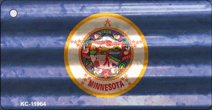 Minnesota Corrugated Flag Novelty Key Chain KC-11964