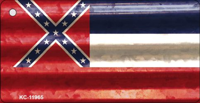Mississippi Corrugated Flag Novelty Key Chain KC-11965