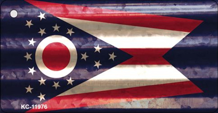 Ohio Corrugated Flag Novelty Key Chain KC-11976