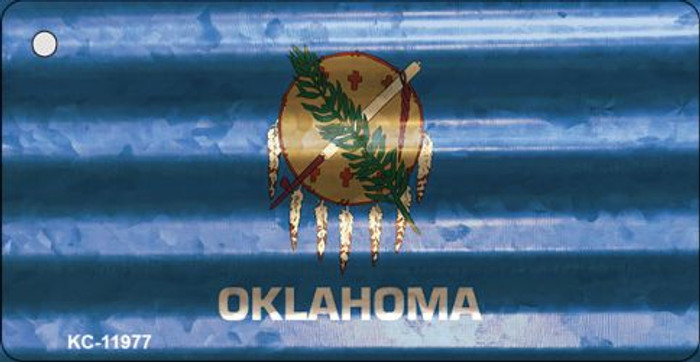 Oklahoma Corrugated Flag Novelty Key Chain KC-11977
