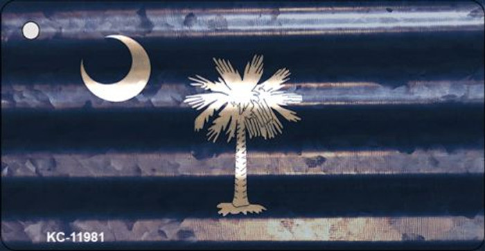 South Carolina Corrugated Flag Novelty Key Chain KC-11981