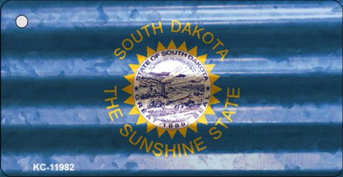 South Dakota Corrugated Flag Novelty Key Chain KC-11982