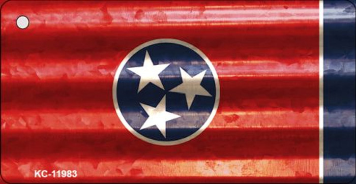 Tennessee Corrugated Flag Novelty Key Chain KC-11983