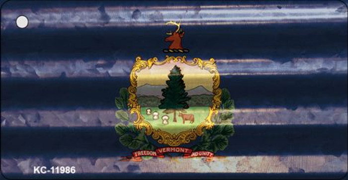 Vermont Corrugated Flag Novelty Key Chain KC-11986