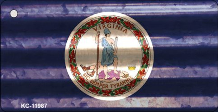 Virginia Corrugated Flag Novelty Key Chain KC-11987