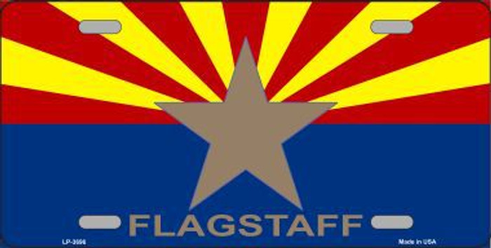 Flagstaff Arizona State Flag Metal Novelty License Plate