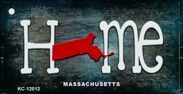 Massachusetts Home State Outline Novelty Key Chain KC-12012
