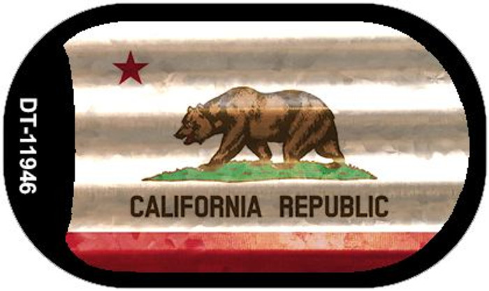 California Corrugated Flag Novelty Dog Tag Necklace DT-11946