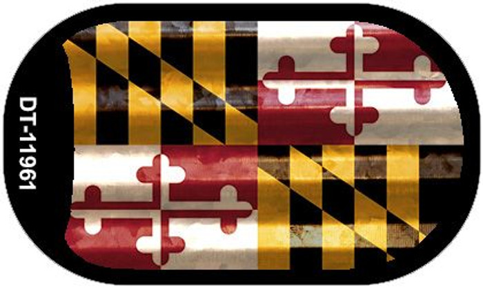 Maryland Corrugated Flag Novelty Dog Tag Necklace DT-11961