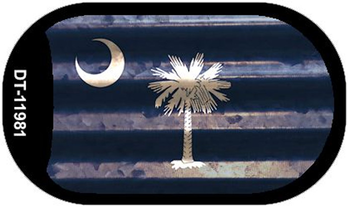 South Carolina Corrugated Flag Novelty Dog Tag Necklace DT-11981