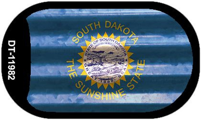South Dakota Corrugated Flag Novelty Dog Tag Necklace DT-11982