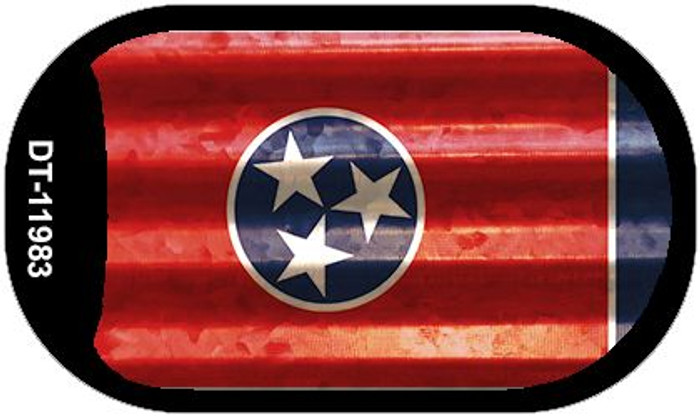 Tennessee Corrugated Flag Novelty Dog Tag Necklace DT-11983