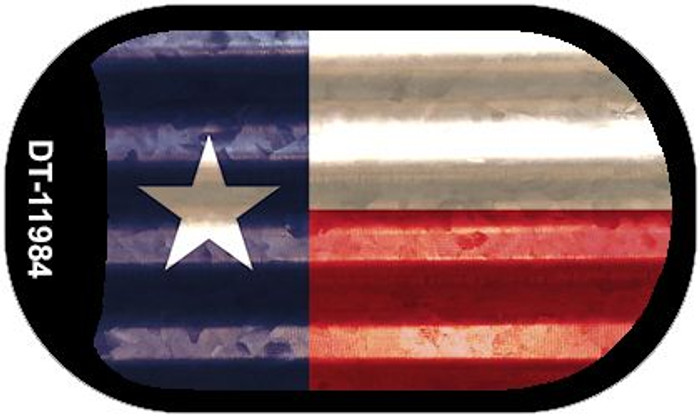 Texas Corrugated Flag Novelty Dog Tag Necklace DT-11984