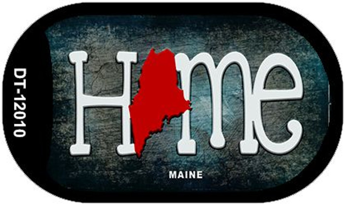 Maine Home State Outline Novelty Dog Tag Necklace DT-12010