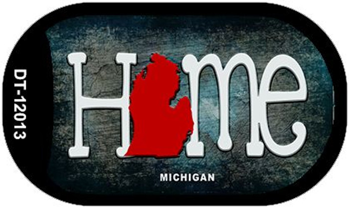 Michigan Home State Outline Novelty Dog Tag Necklace DT-12013