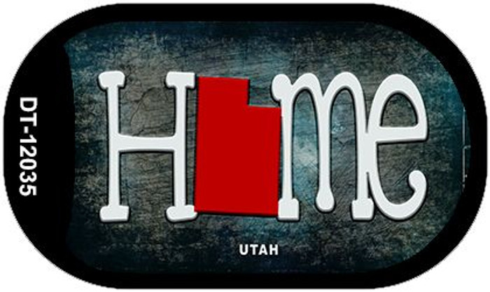 Utah Home State Outline Novelty Dog Tag Necklace DT-12035