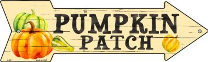 Pumpkin Patch Novelty Metal Arrow Sign A-661