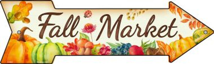 Fall Market Novelty Metal Arrow Sign A-663