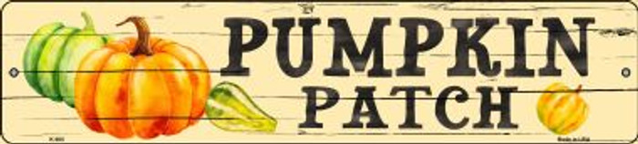 Pumpkin Patch Novelty Metal Mini Street Sign K-900