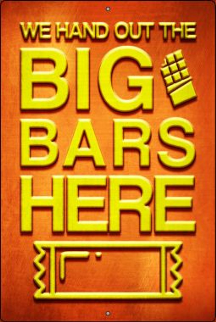 Big Bars Here Novelty Metal Large Parking Sign LGP-2436