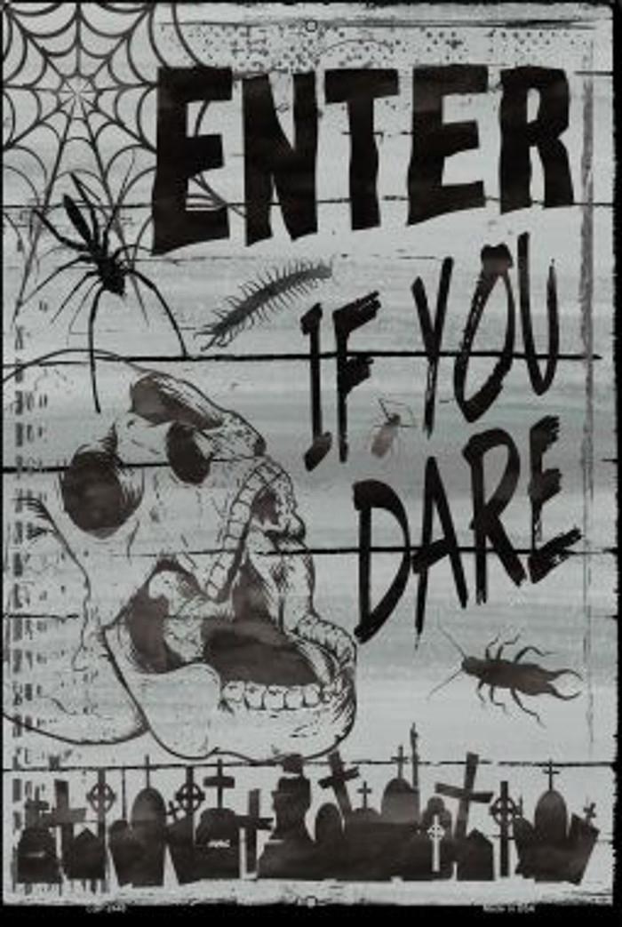 Enter If You Dare Novelty Metal Large Parking Sign LGP-2440