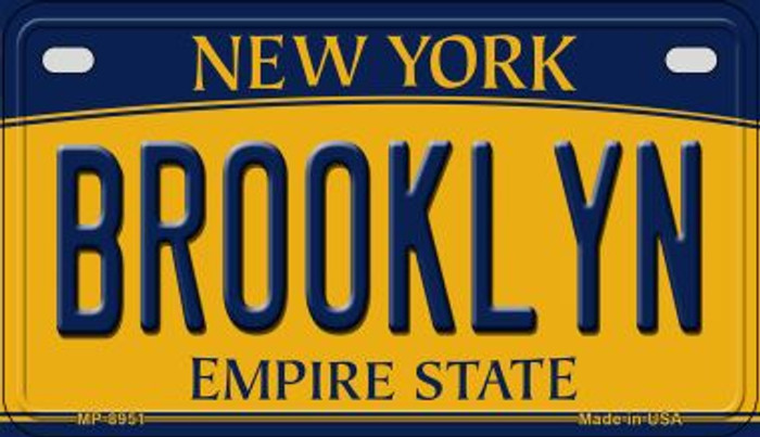 Brooklyn New York Metal Novelty Motorcycle License Plate MP-8951