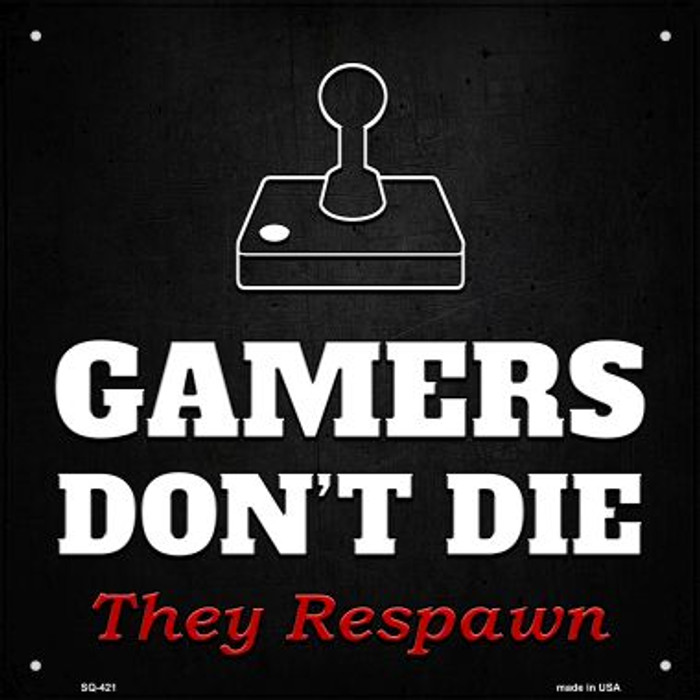 Atari Gamers Dont Die Novelty Square Sign SQ-421
