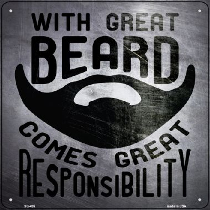 With Great Beard Novelty Square Sign SQ-495