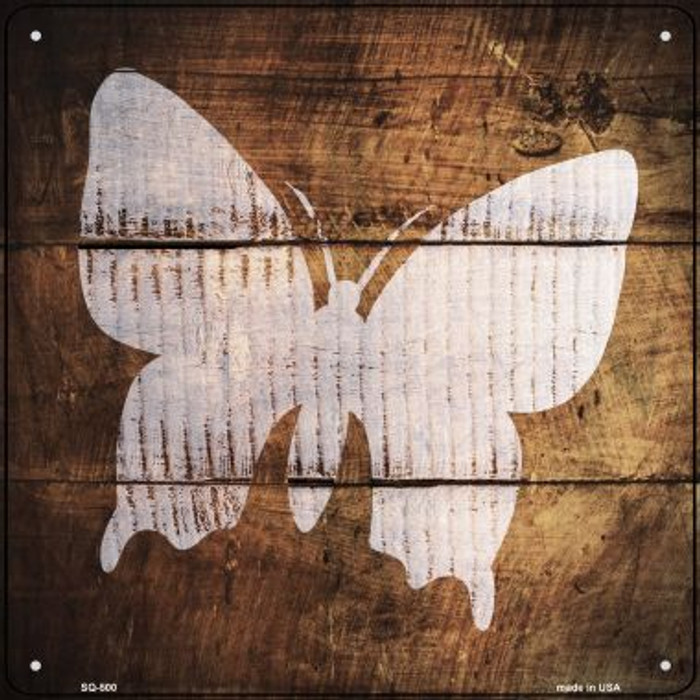 Butterfly Painted Stencil Novelty Square Sign SQ-500