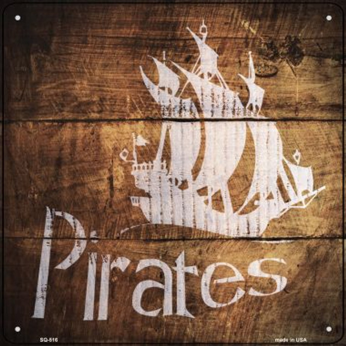 Pirates Painted Stencil Novelty Square Sign SQ-516