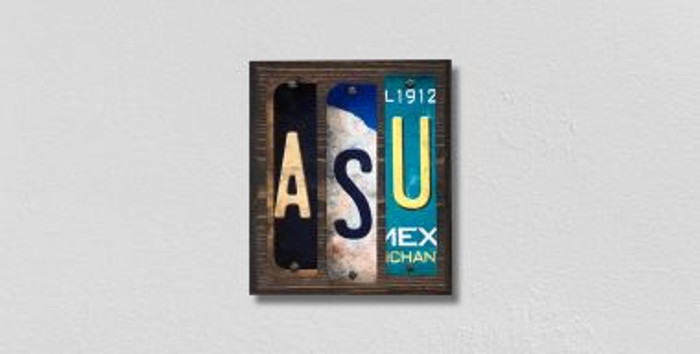 ASU License Plate Strips Novelty Wood Signs WS-230