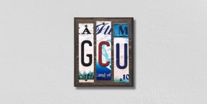 GCU License Plate Strips Novelty Wood Signs WS-232