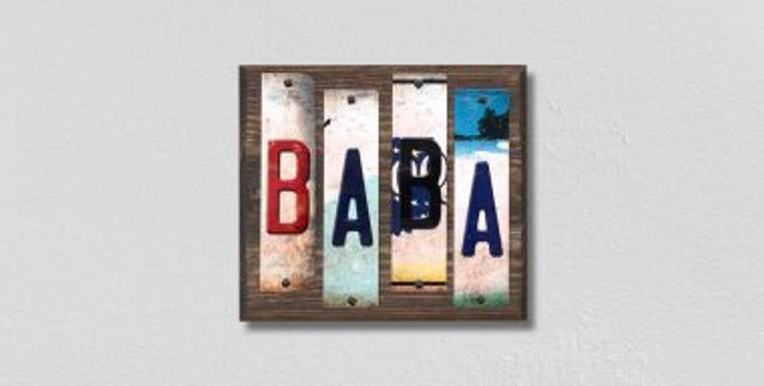 Baba License Plate Strips Novelty Wood Signs WS-211