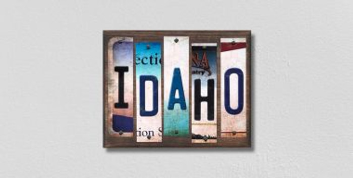 Idaho License Plate Strips Novelty Wood Signs WS-163