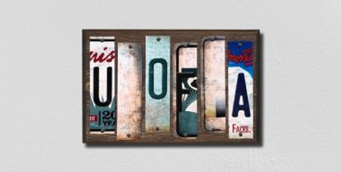 U of A License Plate Strips Novelty Wood Signs WS-231