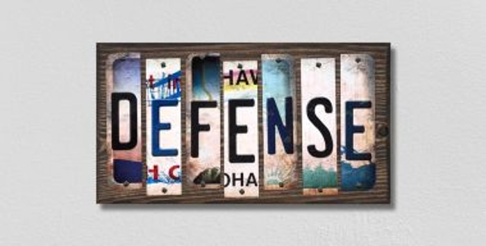 Defense License Plate Strips Novelty Wood Signs WS-224