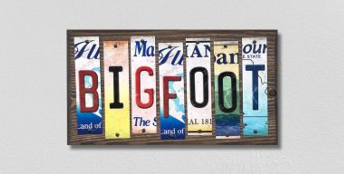 Bigfoot License Plate Strips Novelty Wood Signs WS-317