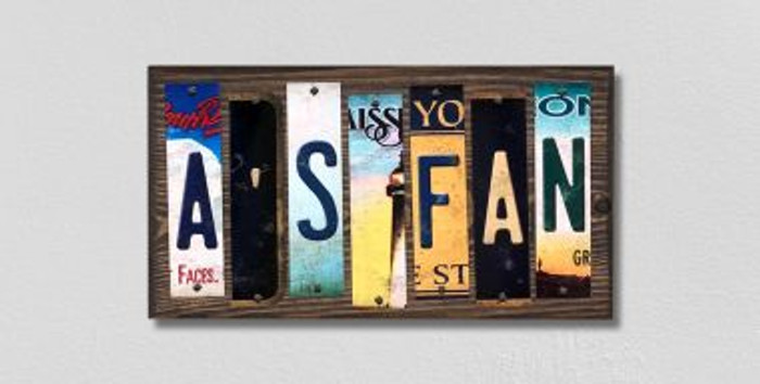 As Fan License Plate Strips Novelty Wood Signs WS-417