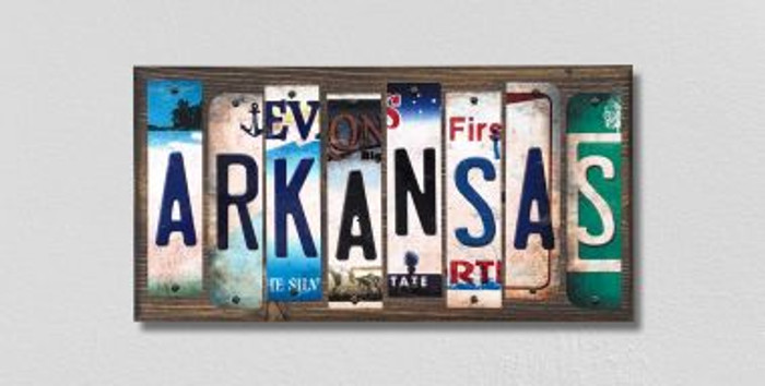 Arkansas License Plate Strips Novelty Wood Signs WS-158