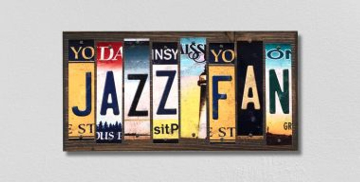 Jazz Fan License Plate Strips Novelty Wood Signs WS-369