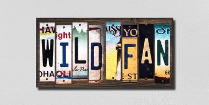 Wild Fan License Plate Strips Novelty Wood Signs WS-434