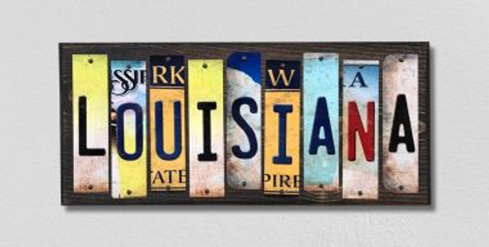 Louisiana License Plate Strips Novelty Wood Signs WS-169